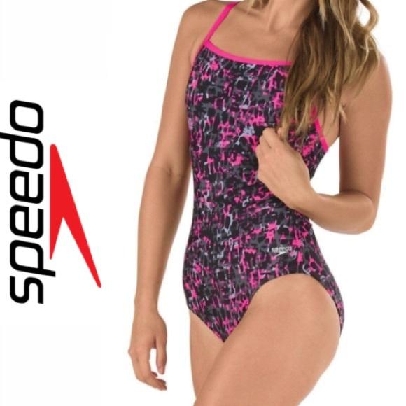 cd215fc509aff Speedo Swim | Womens Endurance Lite Print Cross Pink | Poshmark